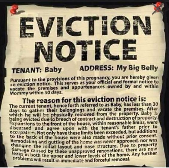Cute baby eviction notice For the Home Pinterest Babies - eviction notice