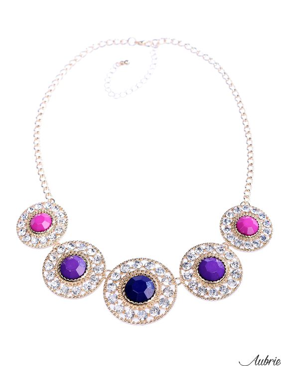 #aubrie #aubriepl #aubrie_necklaces #necklaces #necklace #jewelery #accessories #orla #pastel #colorful #shine #crystal #pink #blue