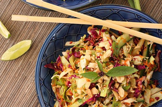 Asian Cabbage Salad - to take advantage of a cheap seasonal ingredient