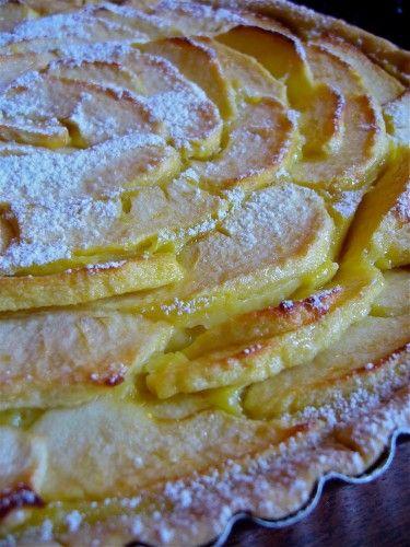 Torta Di Mele Con Crema Pasticcera.: Italian Pastries, Torta Di Mele, Dolci Mele, Tart, Custard, With Cream, Sweet With, My Con