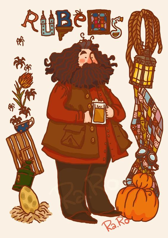 Image result for hagrid fanart