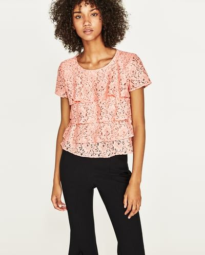 RUFFLED LACE TOP-View All-TOPS-WOMAN-SALE | ZARA United States