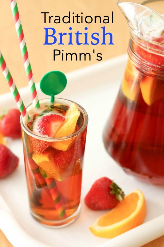 Traditional British Pimm's - summer isn't complete for us Brits without a pitcher of Pimm's :) and it's so easy to make!