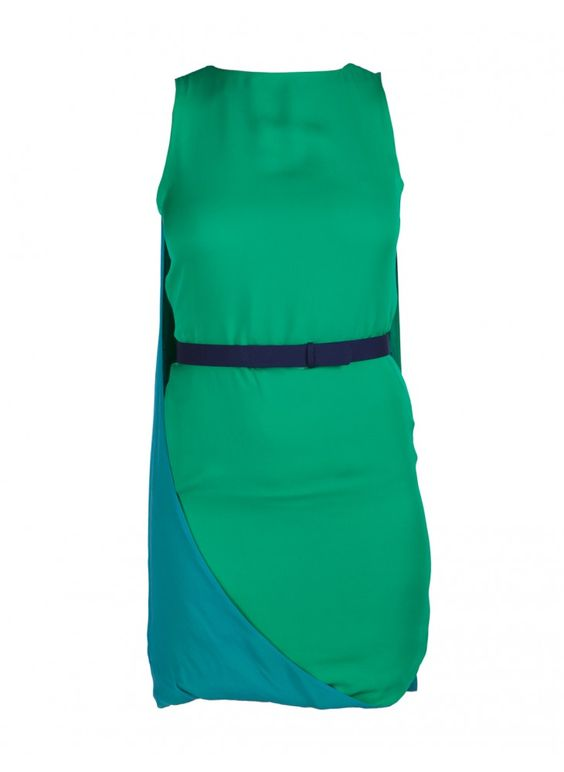 Caped back dress by Halston heritage.