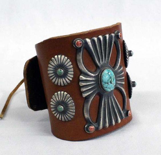 Navajo Sterling Sand Cast Ketoh Bracelet
