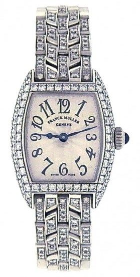 Franck Muller Cintree Curvex 2500 QZD 18k White Gold Watch