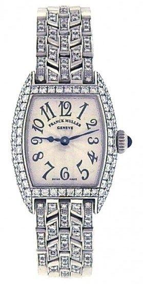 Franck Muller Cintree Curvex 2500 QZD 18k White Gold Watch