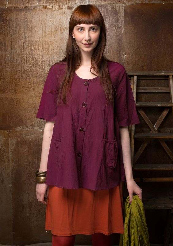 Solid-colored blouse in cotton/modal – Blouses & waistcoats – GUDRUN SJÖDÉN – Webshop, mail order and boutiques | Colorful clothes and home textiles in natural materials.