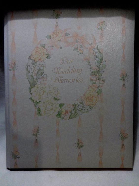 GIBSON Wedding Book Marriage Memory Record Guest Book Photo Album 1977 Vintage #Gibson