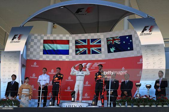 Hamilton Ricciardo Verstappen GP Japonii 2017