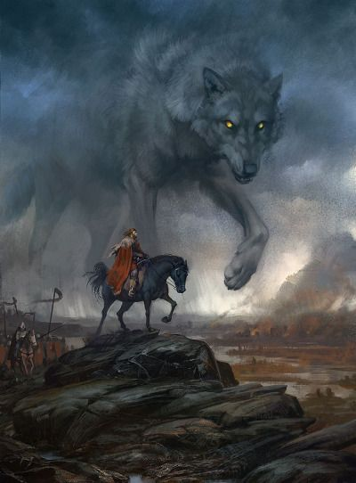 fantasy-art-engine:Wolf Strider by Valeria Lutfullina