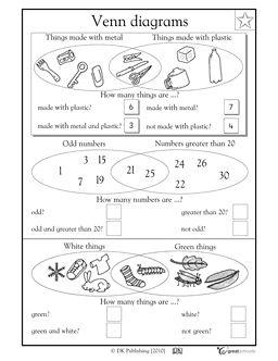 math worksheet : venn diagrams part 2  math worksheets  pinterest  venn  : Venn Diagram Math Worksheets