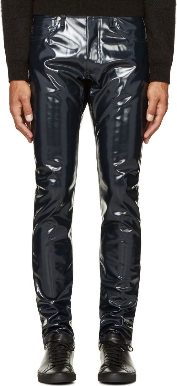 black liam trousers logos blue and trousers