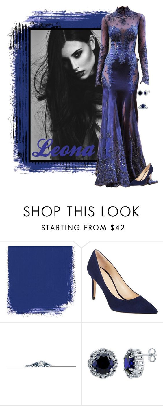 """Leona"" by alyssa-eatinger ❤ liked on Polyvore featuring Zuhair Murad, Barneys New York, Kobelli and BERRICLE"
