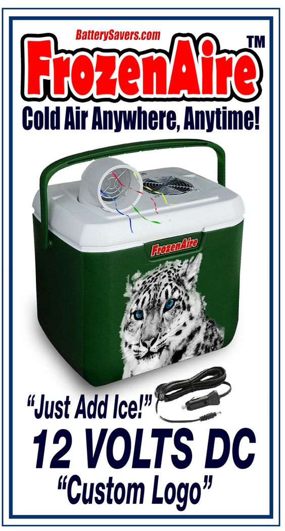 Frozenaire Battery Air Conditioner In Green Color Camping Air
