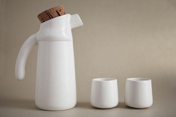 Krüge & Kannen - Flux set, ceramic jar and cups - ein Designerstück von tanata bei DaWanda