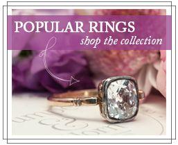 Victorian Antique Diamond Engagement Ring | Old Mine Cut Diamond Ring | Petersburg