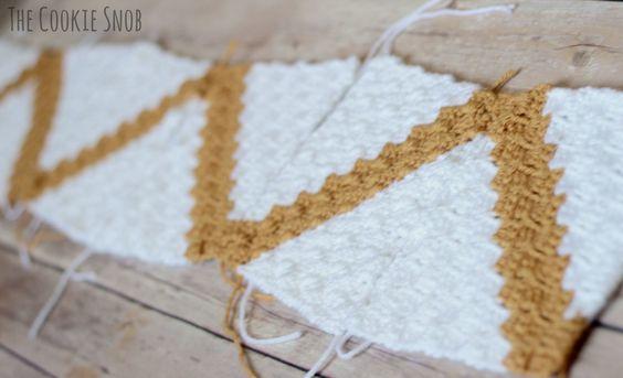 C2C Chevron Baby Blanket Pattern