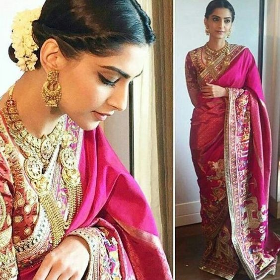 This is called Real Indian Indian beauty @sonamkapoor looked stunning in #abujaanisandeepkhosla Saree for the launch of #kalyanjewellers in Chennai. #bollywoodactress #bollywoodfans #bollywoodfashion #bollywoodfan #fashion #stylefile #stylefiles #sonamkapoor #sonamkapoorfc #sonamkapoorobsessed #indianbeauty #indiandesigner #abujaanisandeepkhosla #chennai #mumbai #delhi #kolkata