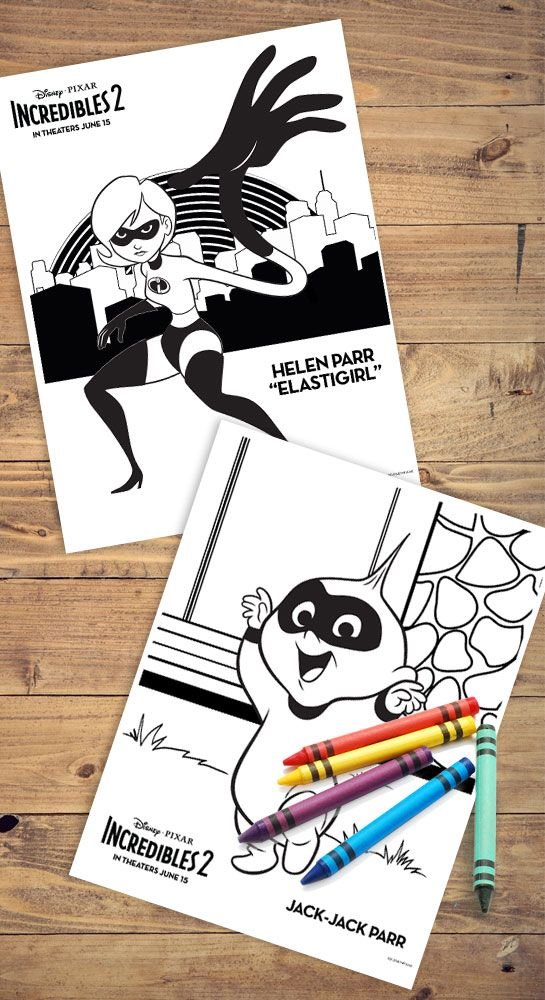 Incredibles 2 Printable Coloring Pages Create Play Travel Business For Kids Coloring Pages Fun Diys