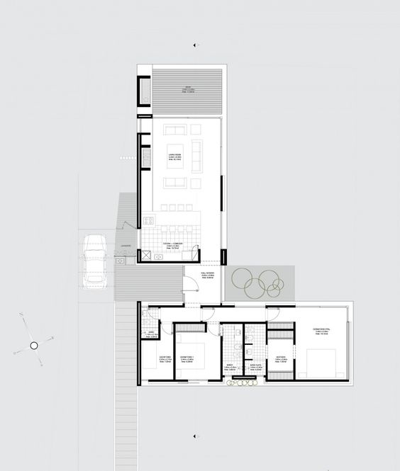 galer u00eda de casa paez   rma arquitectura 1 4-Bedroom Floor Plans without Garage Architectural Designs House Plans