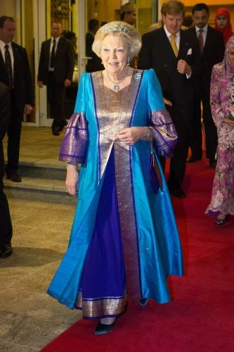 ROYAL COUTURE.....Queen Beatrix, Princess Maxima of the Netherlands Visit Brunei | Nick Verreos