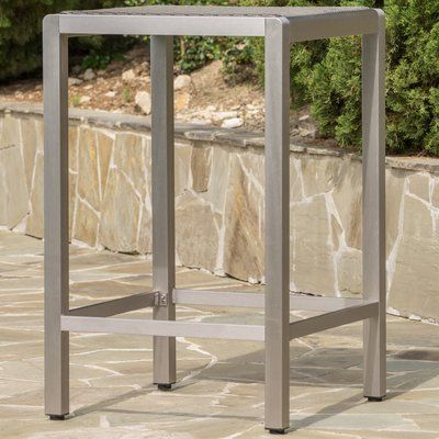 Wade Logan Hennessy Bar Table Glass Bar Table Outdoor Bar Table