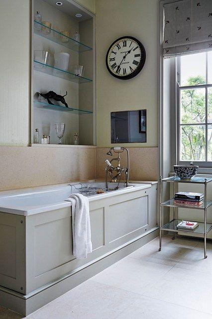 Gardens clock and victorian on pinterest for Bathroom clock ideas