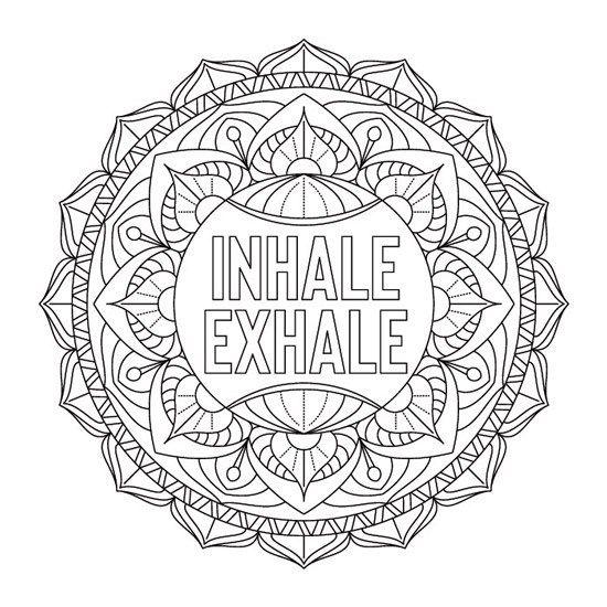 Inspiracion Inhale Exhale Mandalas Para Colorear Mandalas Para