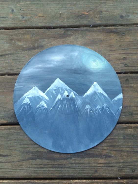 Painting On An Old Vinyl Record Paint Acrylic Vinyl