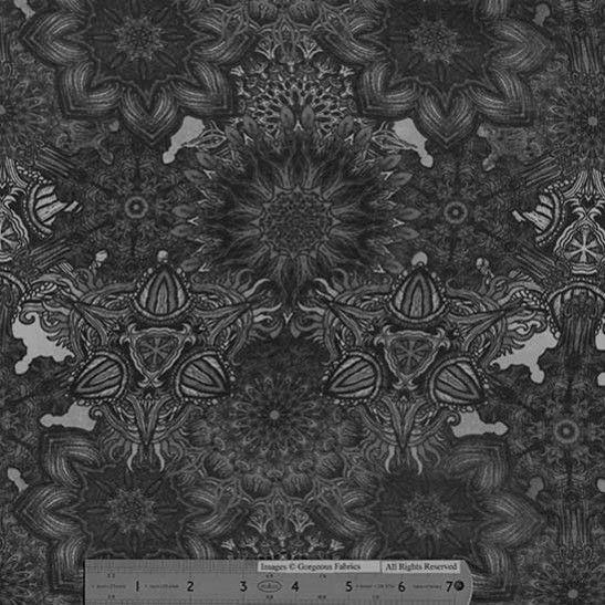 Swatch: Mereen Midnight Silk Blend Chiffon - Black/White | Gorgeous FabricsGorgeous Fabrics