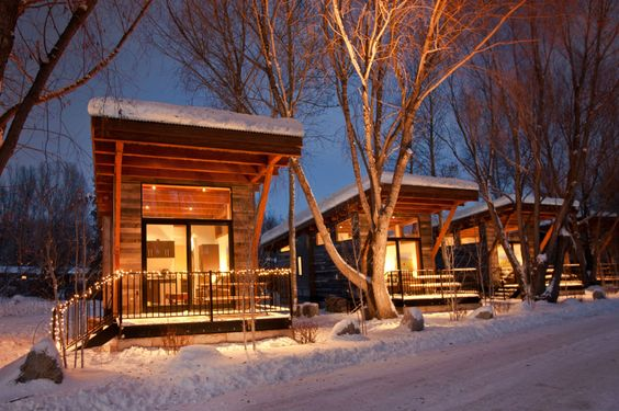 Cabins at Fireside Resort in Jackson Hole, Wyoming