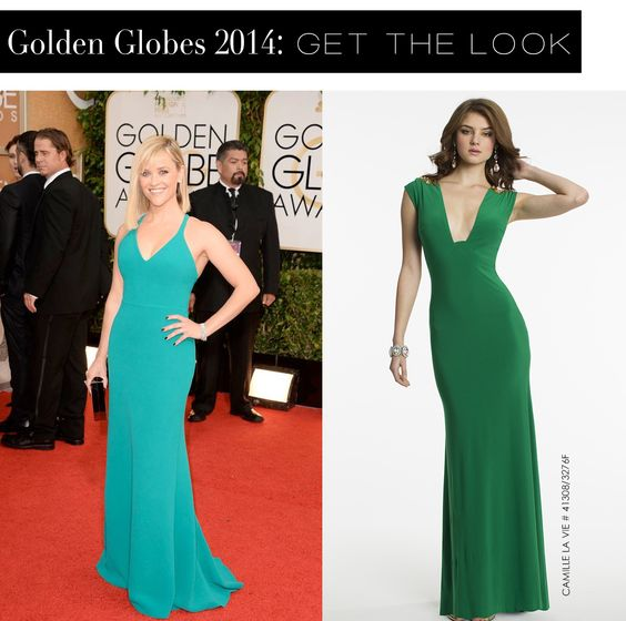 Reese Witherspoon at the Golden Globes 2014 and the Camille La Vie dress version for less:
