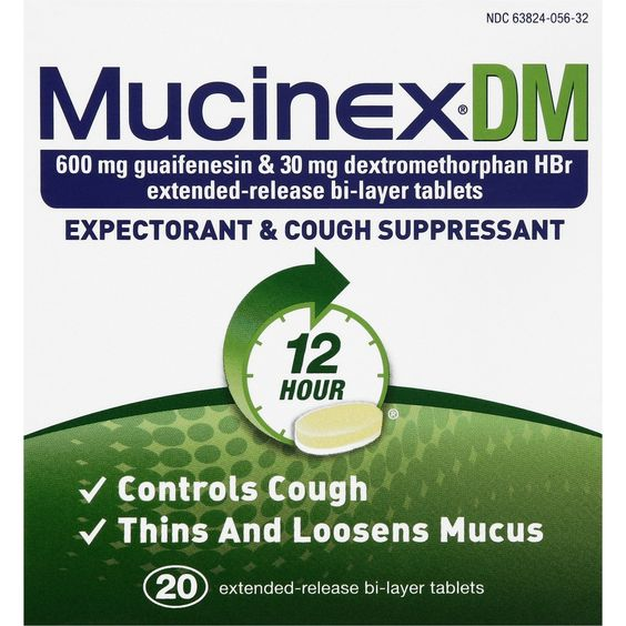 Mucinex� Expectorant and Cough Suppresant Tablets - 20 Count