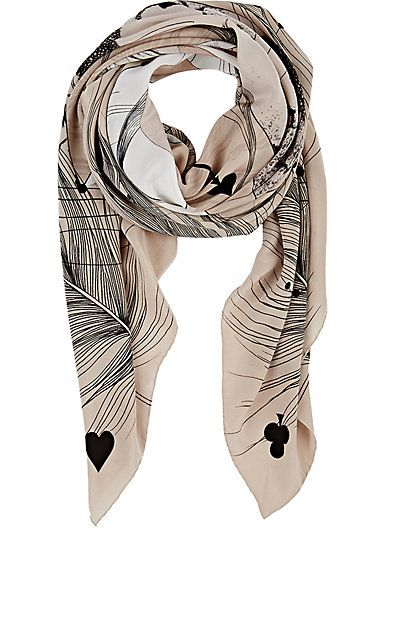 Forget Me Not Flamingo-Print Crêpe De Chine Square Scarf -  - Barneys.com