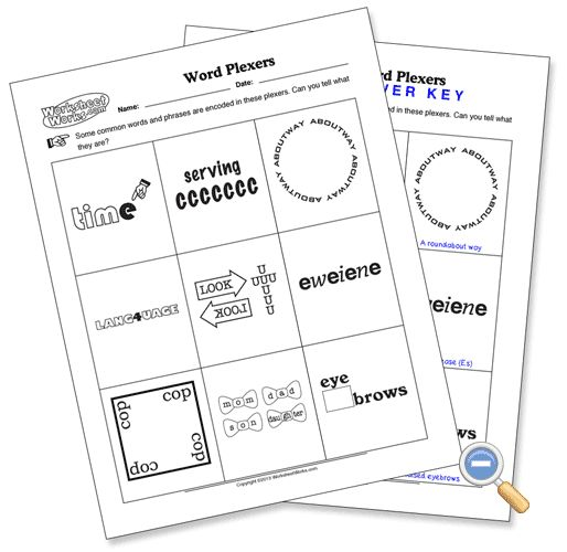 Word Plexer Puzzle WorksheetWorks Word Plexers – Worksheet Works Division