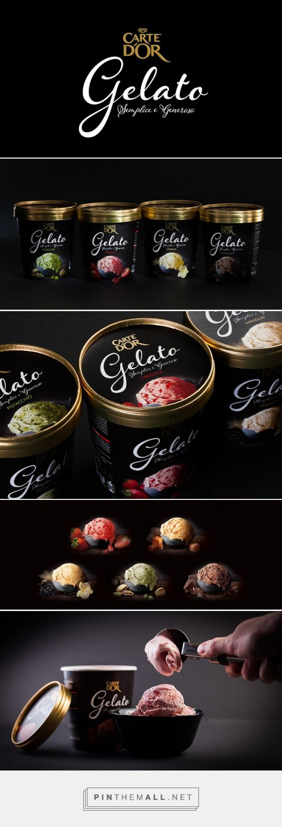 #Unilever Carte D'Or #Gelato #packaging designed by MILDBERRY​ - http://www.packagingoftheworld.com/2015/05/unilever-carte-dor-gelato.html