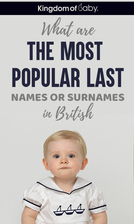 What Are The Most Popular Last Names Or Surnames In British Popular Last Names Baby Names Surnames