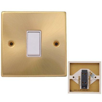 Brushed Brass Light Switches: POWESRSTAR Brushed Brass Light Switch, 1Gang to 6Gang, TV,Cooker,Telephone  Plug,Lighting