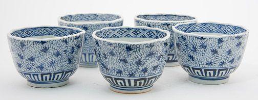 Set of 5 Soba green tea Cups