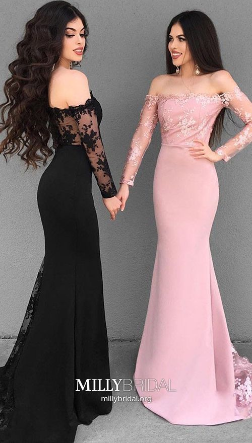 Black Lace Long Wedding Dress With Illusion Long Sleeves Black Lace Wedding Dress Black Bridesmaid Dresses Black Bridesmaid Dresses Long