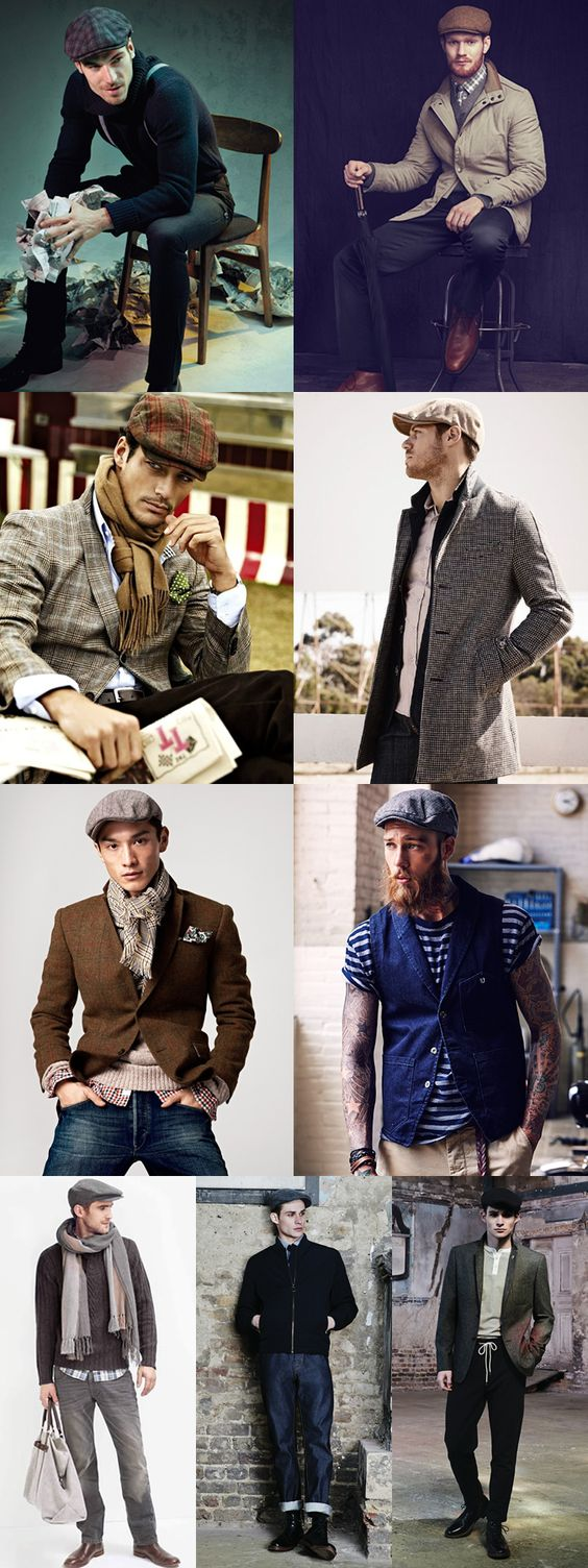 Great Hats for 2014 Autumn/Winter : The Traditional Flat Cap Lookbook Inspiration