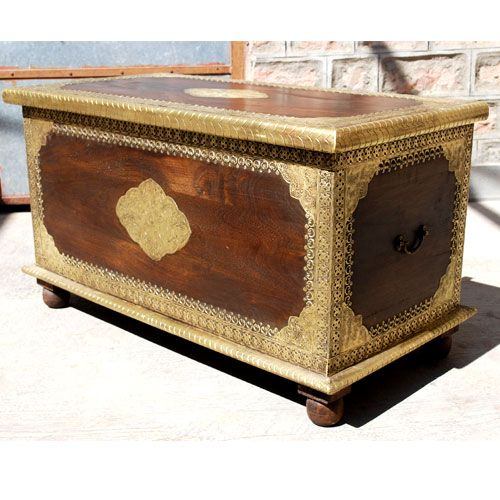 Heritage Contemporary Brass Inlaid Chest