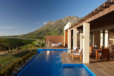 Sun kissed view at Delaire Graff designed by David Collins Studio  #southafrica #sunshine #infinitypool