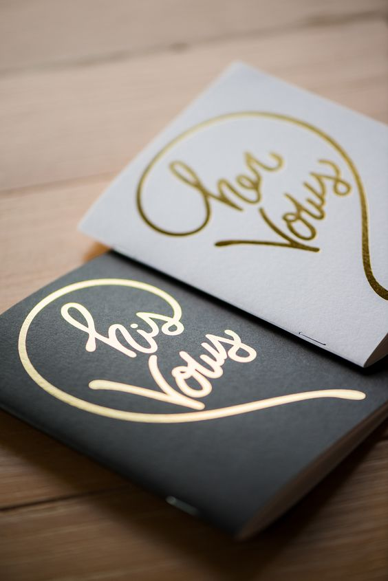 his and her wedding vow books: