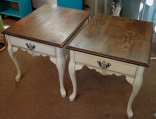 Pair of White Painted Nightstands/Side Tables in Blowing Rock, NC, USA ~ Krrb