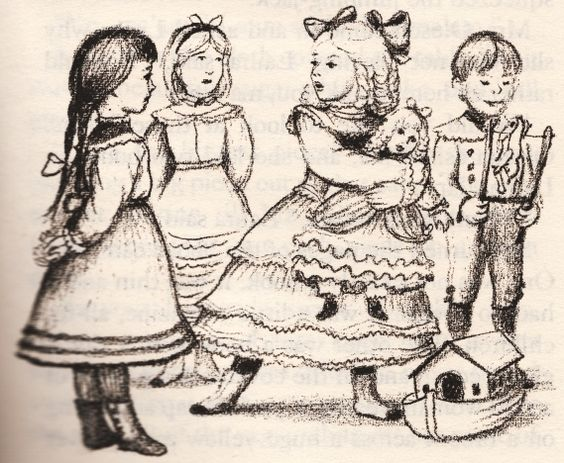 """j'ai adoré les illustrations de  Garth Williams dans le livre """" la petite maison dans la prairie """":"""