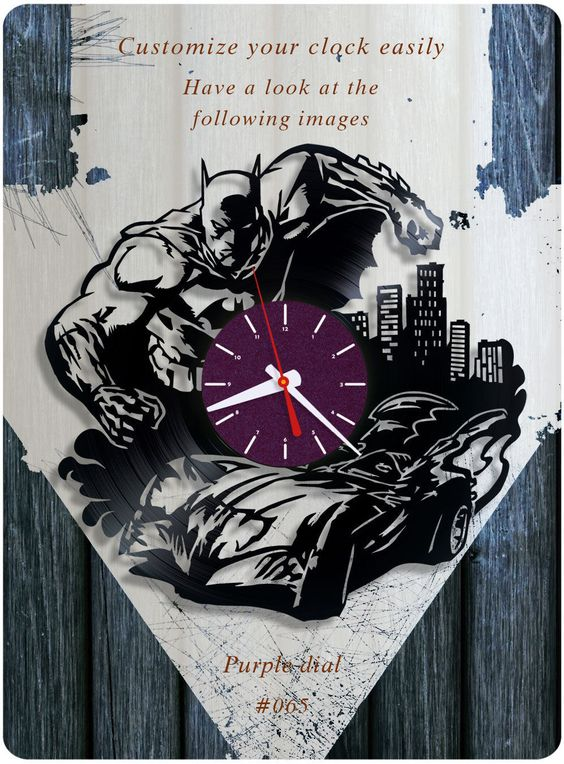 #batman_harley_quinn_catwoman #vinyl #clock #dc_comics #birthday_present #home_decorating_ideas  #holiday_present #gift_ideas #handmade_gift #vinylclock