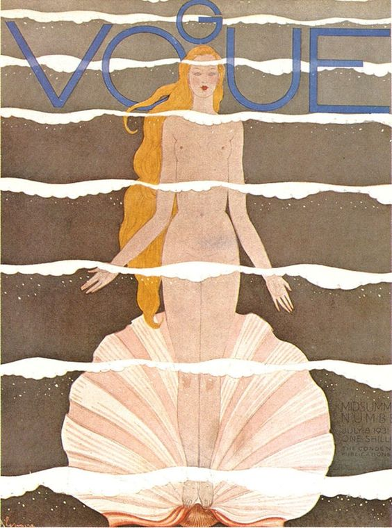 Capas da Vogue do início do século passado, uma enorme diferença para as capas…