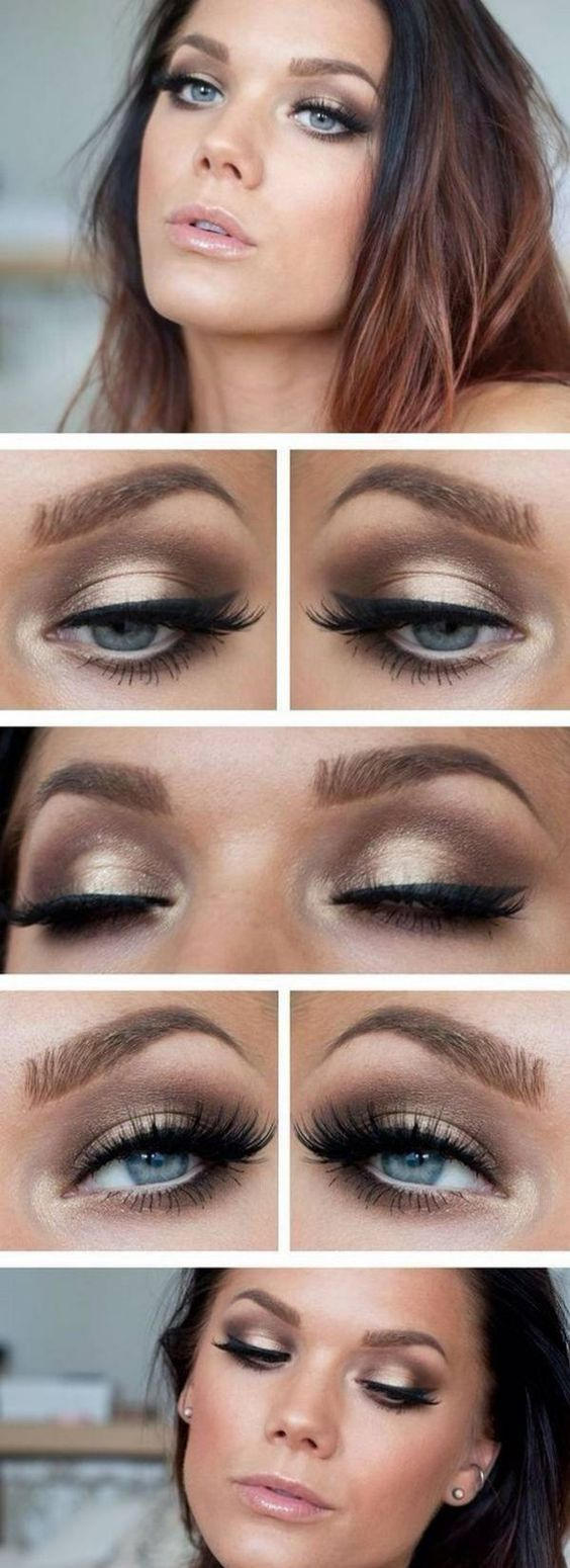 Party makeup smokey eyes step by step For Wedding Makeup
